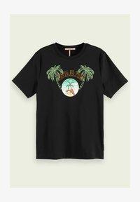 Scotch & Soda - Print T-shirt - black - 4