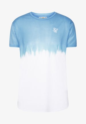 DIP DYE FADE TEE - T-shirts print - blue/white