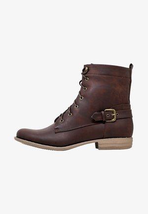 PARIS - Šněrovací kotníkové boty - brown