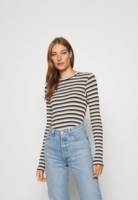 Mads Nørgaard - TUBA STRIPE - Long sleeved top - multi green - 0