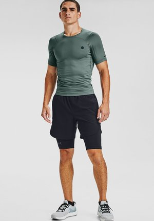 UA RUSH HG COMPRESSION SS - T-shirt basic - lichen blue