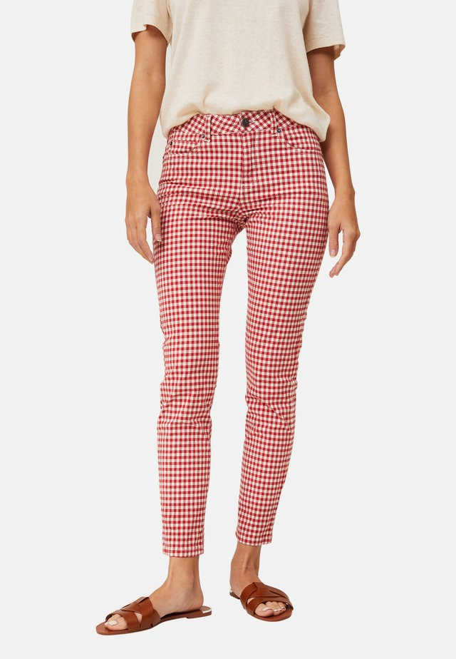 ZOE  - Jeans slim fit - red/white check