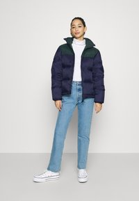 Lacoste - COLOR BLOCK PUFFER - Dunjakke - navy blue/sinople - 1