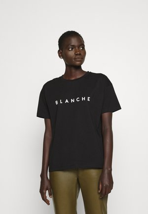 MAIN CONTRAST - Print T-shirt - black