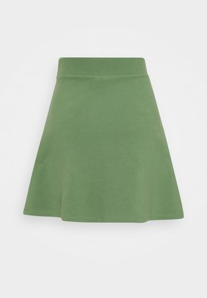 STRUCTURED SKIRT - A-line skirt - vintage green