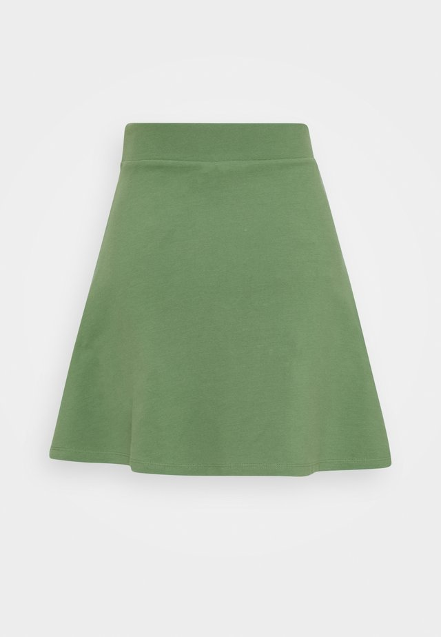 STRUCTURED SKIRT - Falda acampanada - vintage green