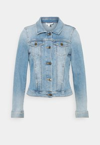 TOM TAILOR DENIM - RIDERS JACKET - Jeansjakke - used light stone blue denim - 0