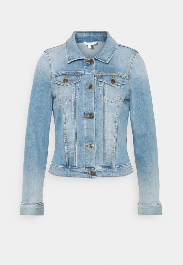 RIDERS JACKET - Denim jacket - used light stone blue denim