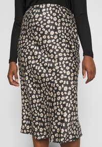 CAPSULE by Simply Be - FLORAL PRINT SKIRT - Falda de tubo - black/white - 4