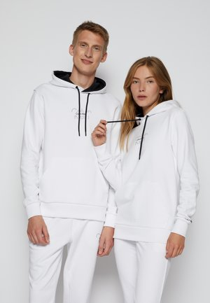 REFLECTIVE CENTER LOGO HOODIE UNISEX - Sweatshirt - bright white