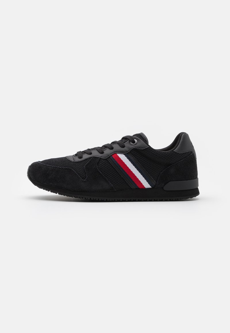 Tommy Hilfiger - ICONIC MATERIAL MIX RUNNER - Sneakers basse - black