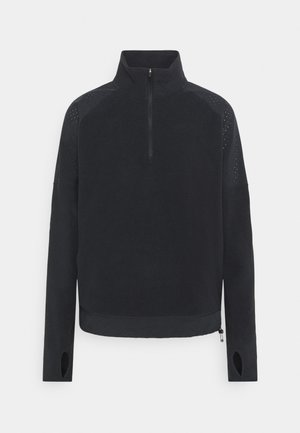 AIR MIDLAYER - Fleecepullover - black/silver