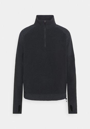 AIR MIDLAYER - Fleece trui - black/silver