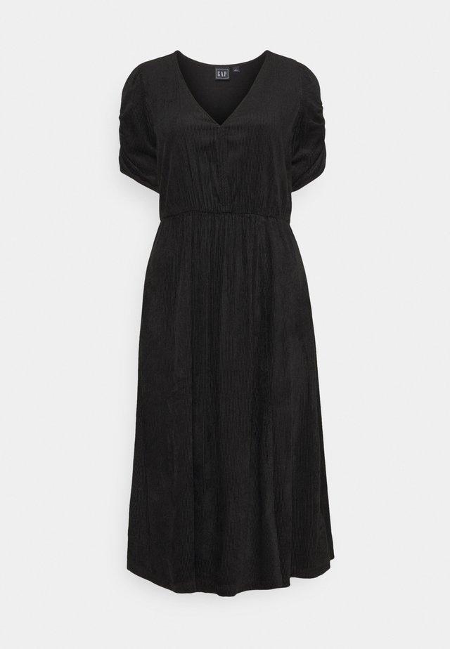 WRAP FRONT MIDI DRESS - Sukienka letnia - true black