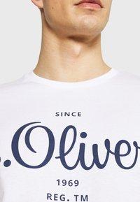 s.Oliver - Print T-shirt - white - 4