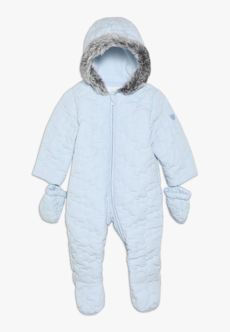 mothercare - BABY QUILTED SNOWSUIT - Snowsuit - blue