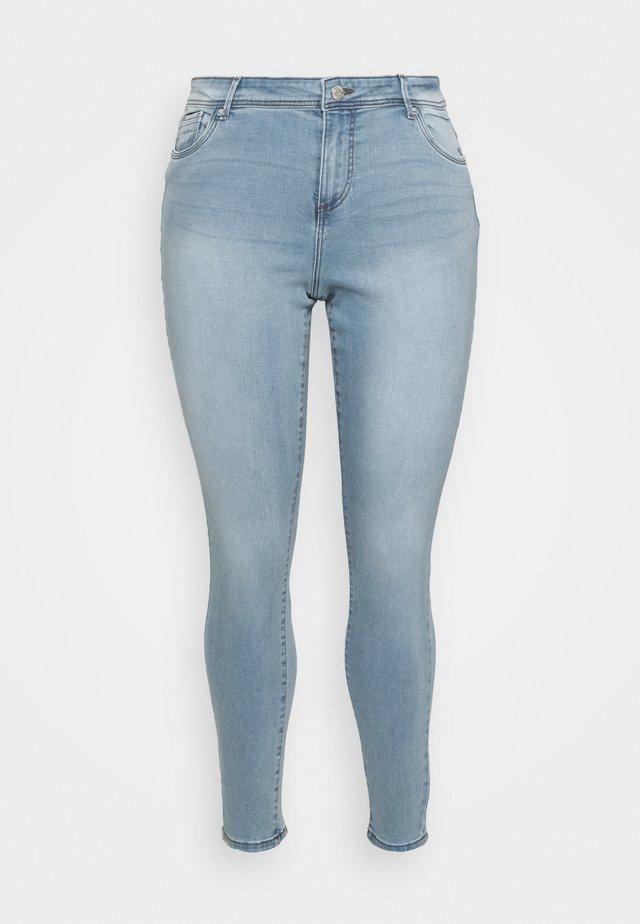 VMTANYA PIPING - Jeans Skinny Fit - light blue denim