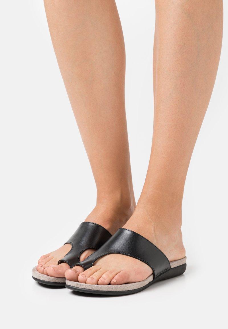 Jana - T-bar sandals - black
