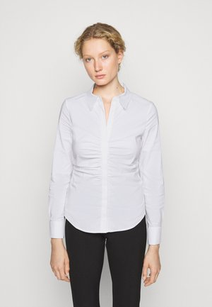 CLEMANDE PLEATED BLOUSE - Button-down blouse - white