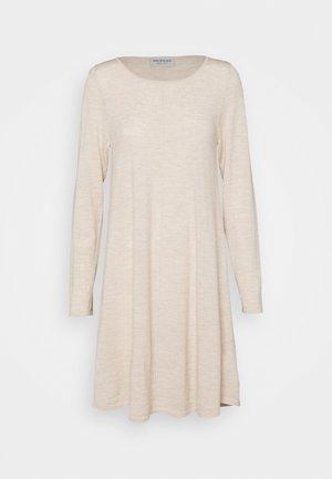 Jumper dress - beige melange