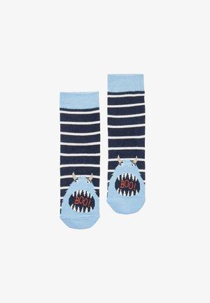 Sokken - marineblau monster