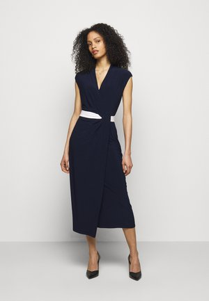 MID WEIGHT DRESS 2-TONE - Jersey dress - navy