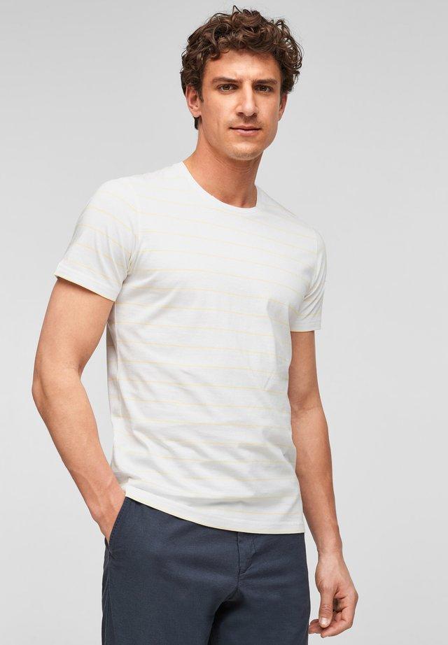 T-shirt print - white stripes