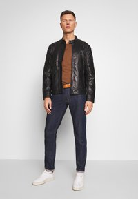 Strellson - DARWIN - Leather jacket - black