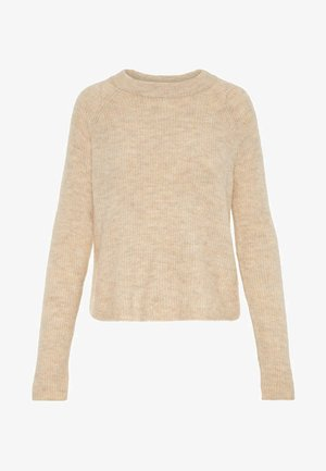 PCELLEN - Strickpullover - white pepper
