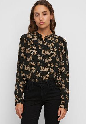 Button-down blouse - multi/black