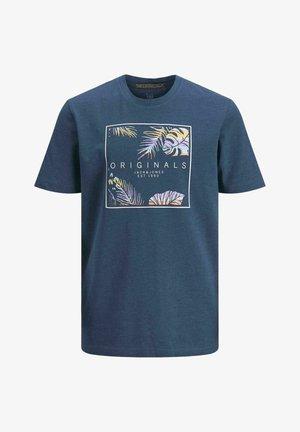 JUNGS TROPENPRINT - T-shirt imprimé - ensign blue