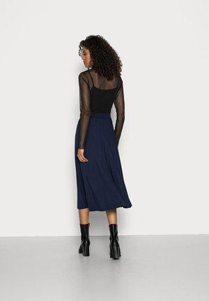 PLISSEE SKIRT - A-line skirt - midnight blue
