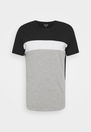 JORCALLIEE TEE CREW NECK - T-Shirt print - light grey melange