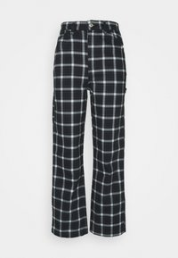 PLAID CARPENTER - Trousers - navy