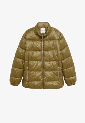 MIT SEITLICHEN ZIPPERN - Winter jacket - mittelbraun