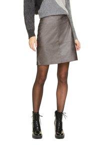 comma casual identity - MIT METALLIC-EFFEKT - A-line skirt - dark grey - 0