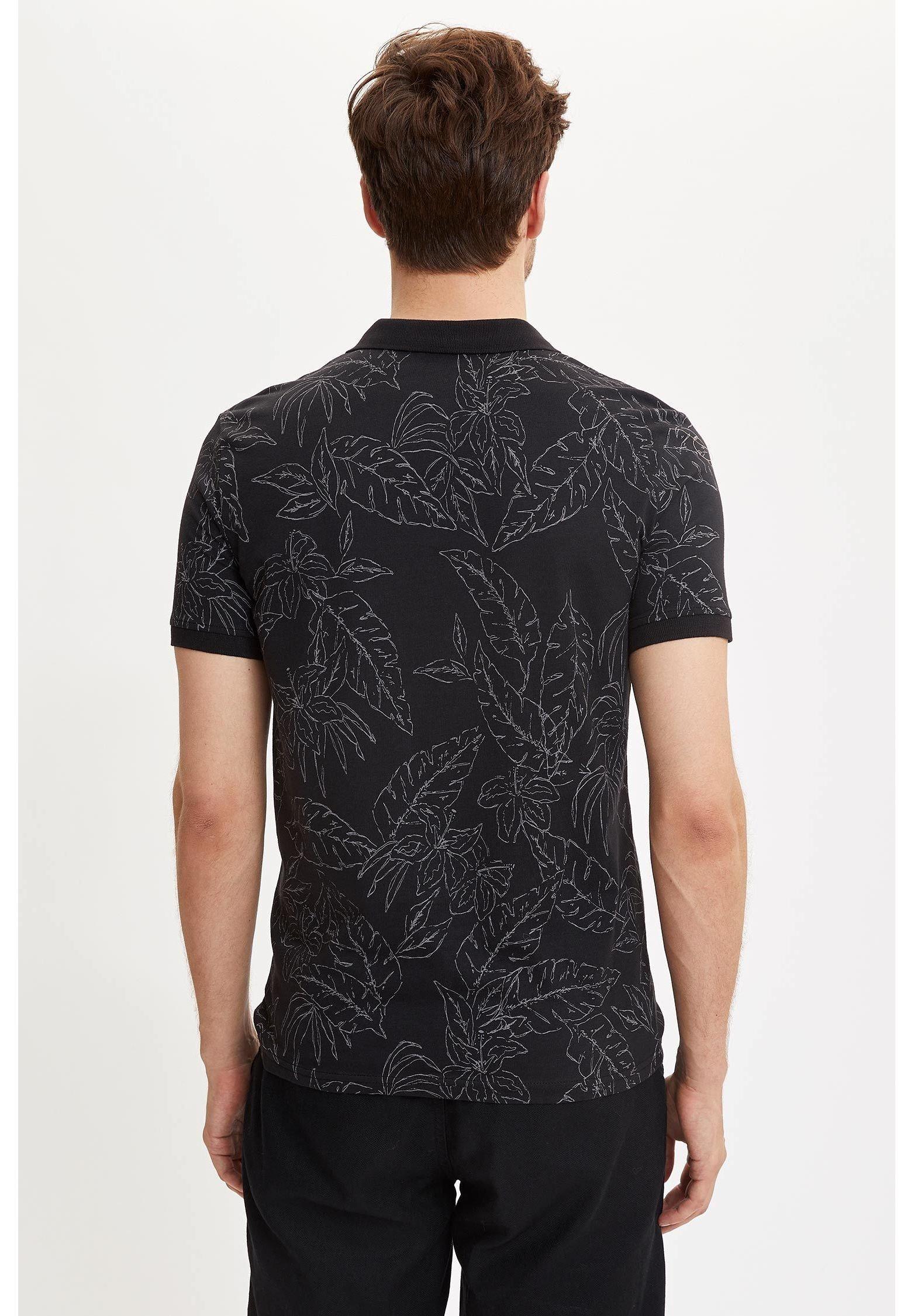 DeFacto Basic T-shirt - navy JX2XZ