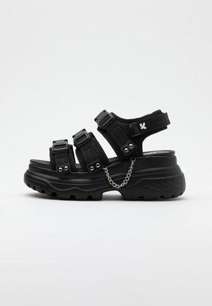 VEGAN SULFUR - Platåsandaler - black