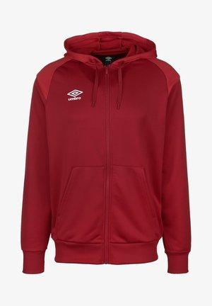 Zip-up hoodie - chili pepper / vermillion