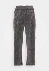 Vero Moda Curve - VMKAIDACOCO WIDE PANT - Trousers - black/silver - 4