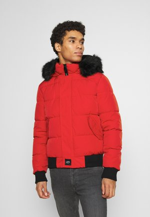 IRRIDESCENT - Winter jacket - red/black