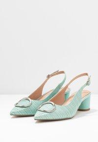 Dorothy Perkins - EMMA CROC SLING POINT - Classic heels - green - 4