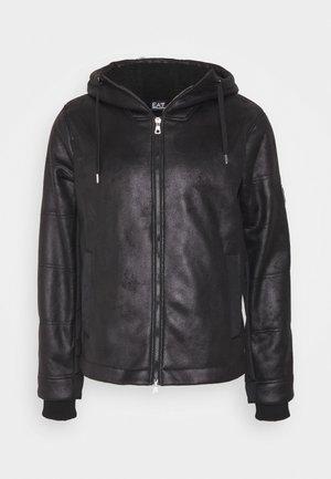 GIUBBOTTO - Leather jacket - black