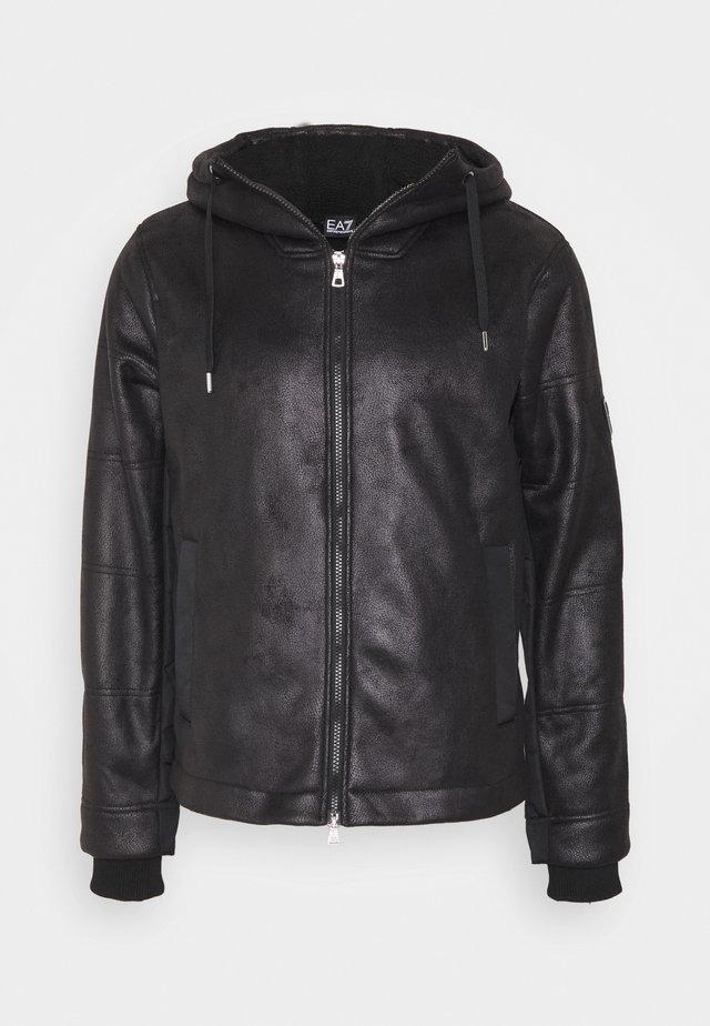 GIUBBOTTO - Kožená bunda - black