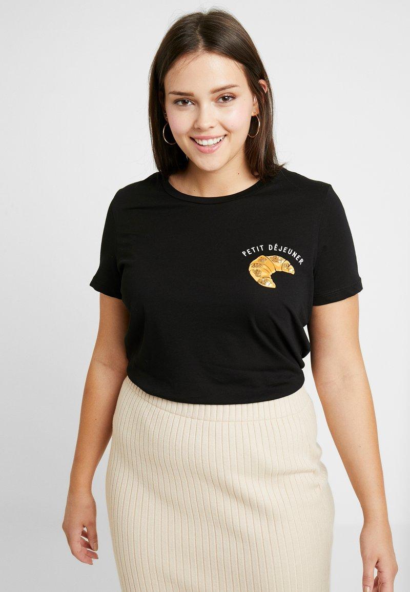 Vero Moda Curve - VMEMINA FRANCIS - T-shirt imprimé - black