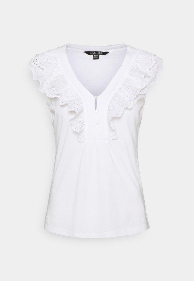 BIZETH SLEEVELESS - T-shirt imprimé - white