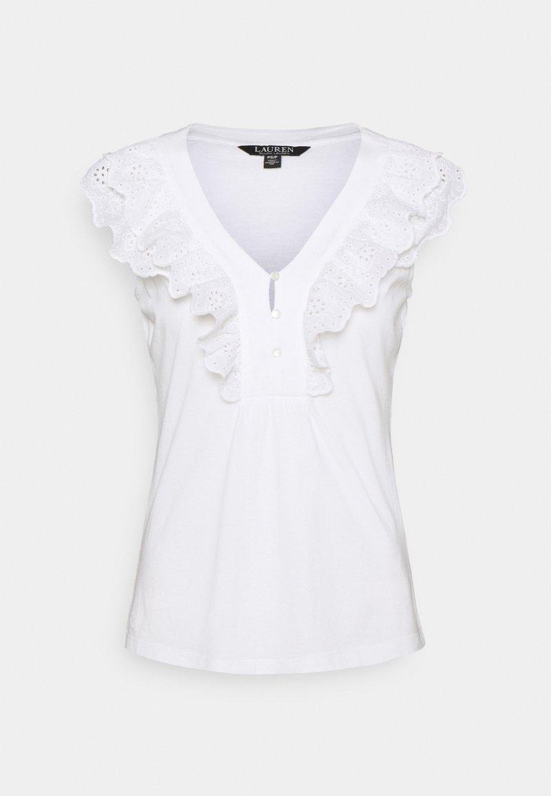Lauren Ralph Lauren Petite - BIZETH SLEEVELESS - Print T-shirt - white