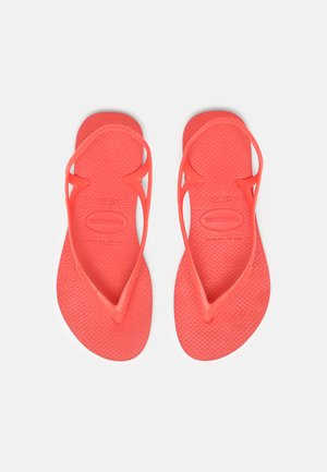 SUNNY - Pool shoes - coral