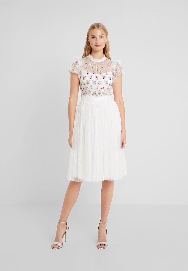 ROCOCO BODICE MIDI DRESS - Cocktail dress / Party dress - ivory