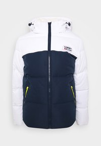 Tommy Jeans - COLORBLOCK JACKET - Kurtka zimowa - white/twilight navy - 0
